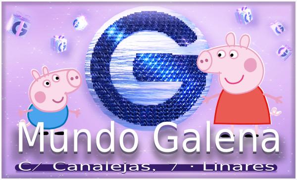 Pepa y George Pig en Mundo Galena