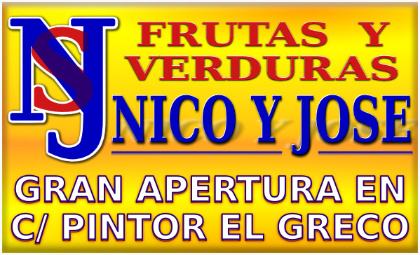 Apertura de Super Nico y Jose Frutas y Verduras en calle Pintor El Greco de Linares