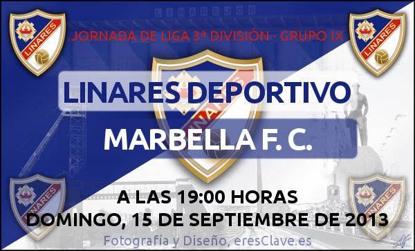 Linares Deportivo - Marbella F. C. (15 de septiembre de 2013 - 19:00 horas)