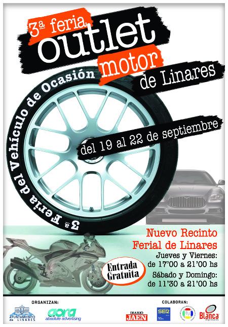 cartel 3ª Feria Outlet Motor Linares