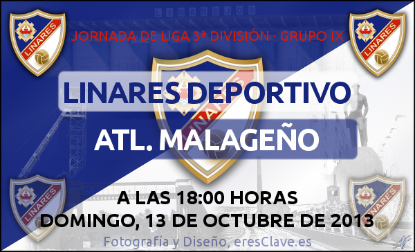 8ª Jornada de Liga · 3ª División Grupo IX · Linares Deportivo - Atlético Malagueño -13octubre2013