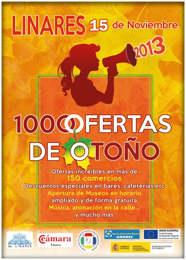 cartel oficial Mil Ofertas De Otoño - Linares, 15 de noviembre de 2013