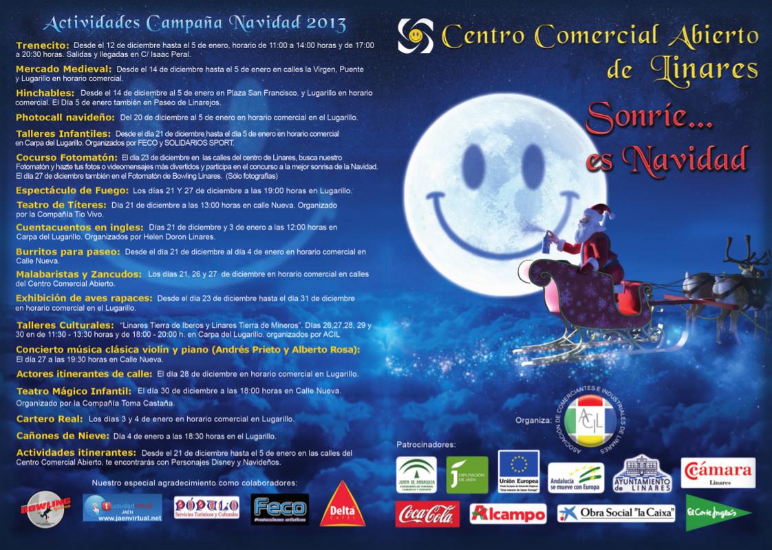 Actividades Campaña Navidad 2013 - Centro Comercial Abierto - Linares - Sonríe... es Navidad