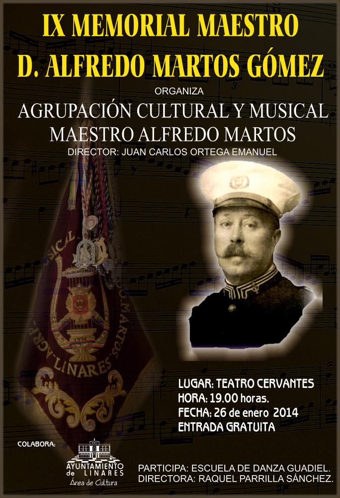 Cartel del IX Memorial Maestro D. Alfredo Martos Gómez