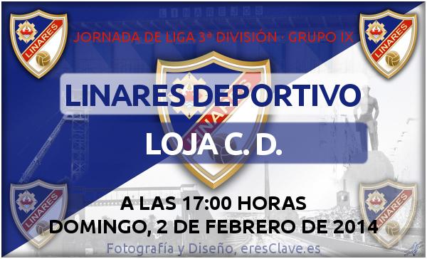 Partido entre el Linares Deportivo y el Loja C. D. en el Campo Municipal de Linarejos el domingo 2 de febrero de 2014