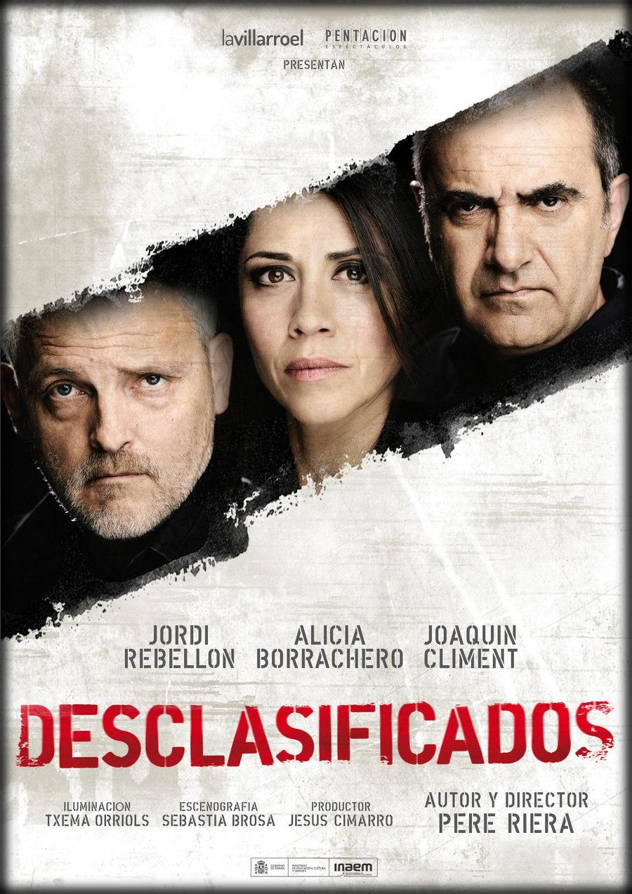 """cartel de la obra de Teatro """"Desclasificados"""""""