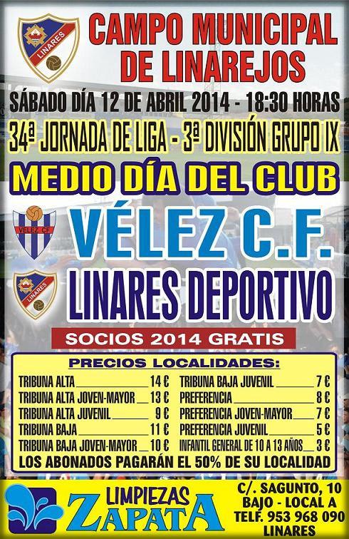 cartel-oficial-partido-Linares-Deportivo-VélezCF-12abr2014
