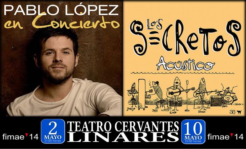Pablo López y Los Secretos en el Teatro Cervantes de Linares
