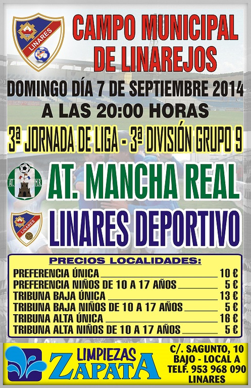 cartel Linares Deportivo - At. Mancha Real