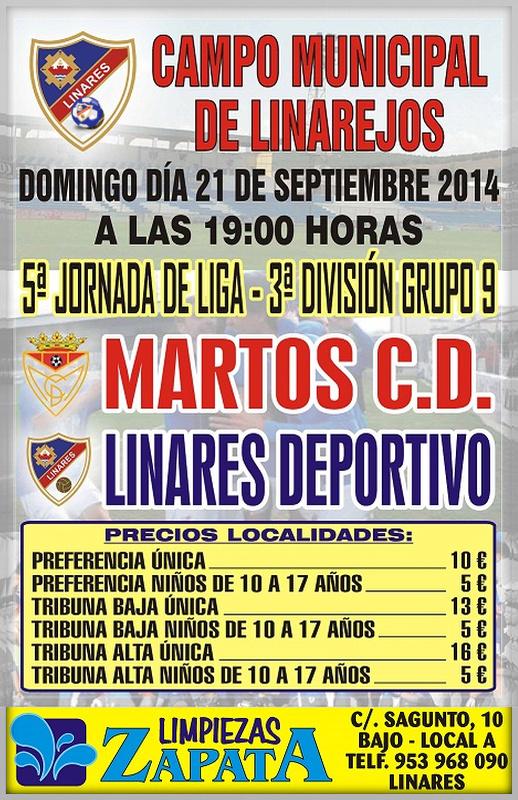 cartel Linares Deportivo - Martos C. D.