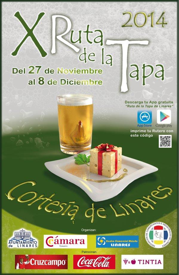 cartel de la X Ruta de la Tapa de Linares