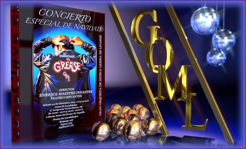 Concierto especial de navidad Homenaje a Grease de la Gran Orquesta de Música Ligera de Linares