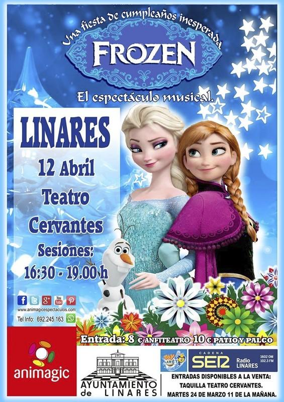 Cartel de Frozen, El Espectáculo Musical, en el Fimae'15 de Linares