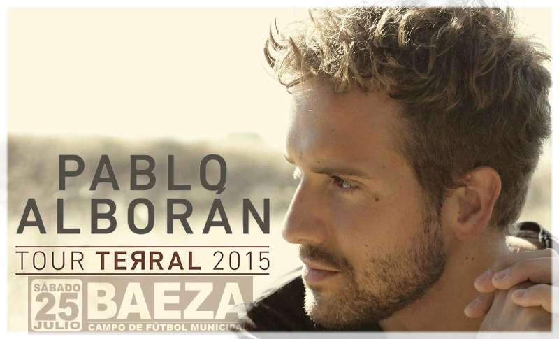 Pablo Alborán en Baeza el 25 de julio de 2015