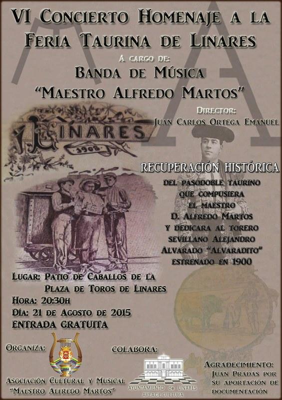 cartel_VI-Concierto-Homenaje-Feria-Taurina-Linares-Banda-Alfredo-Martos