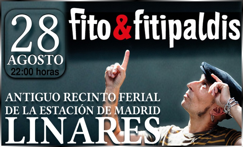 Concierto de Fito & Fitipaldis en la feria de Linares 2015