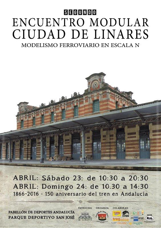 cartel-del-segundo-encuentro-modular-ciudad-de-linares-modelismo-ferroviario
