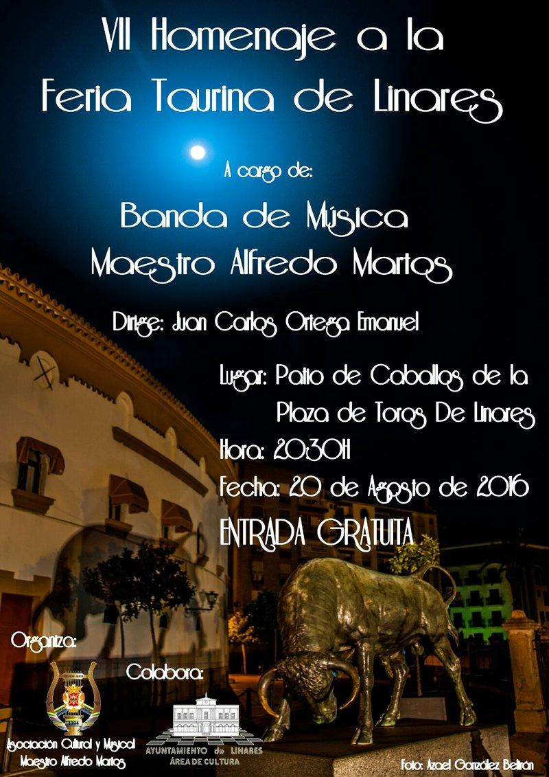 cartel-VII-Homenaje-Feria-Taurina-Linares-Banda-Música-Maestro-Alfredo-Martos