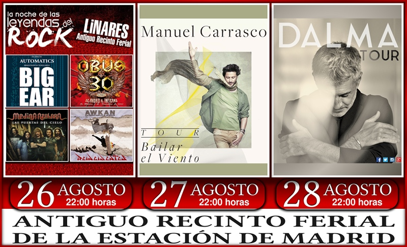 Carteles de los Conciertos en la Feria de Linares 2016