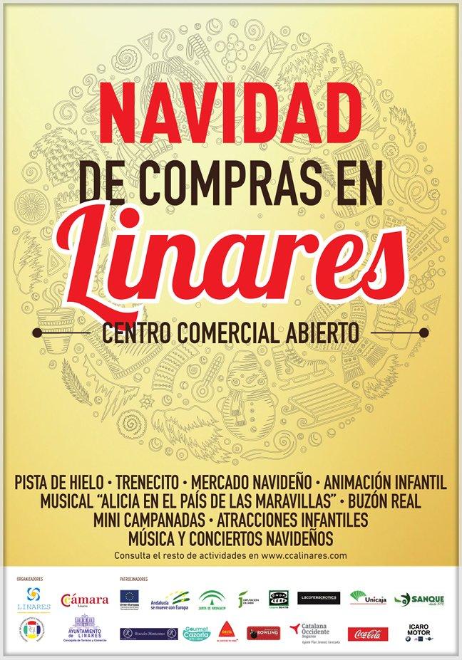 Cartel de la Campaña Navidad de Compras en Linares – Centro Comercial Abierto