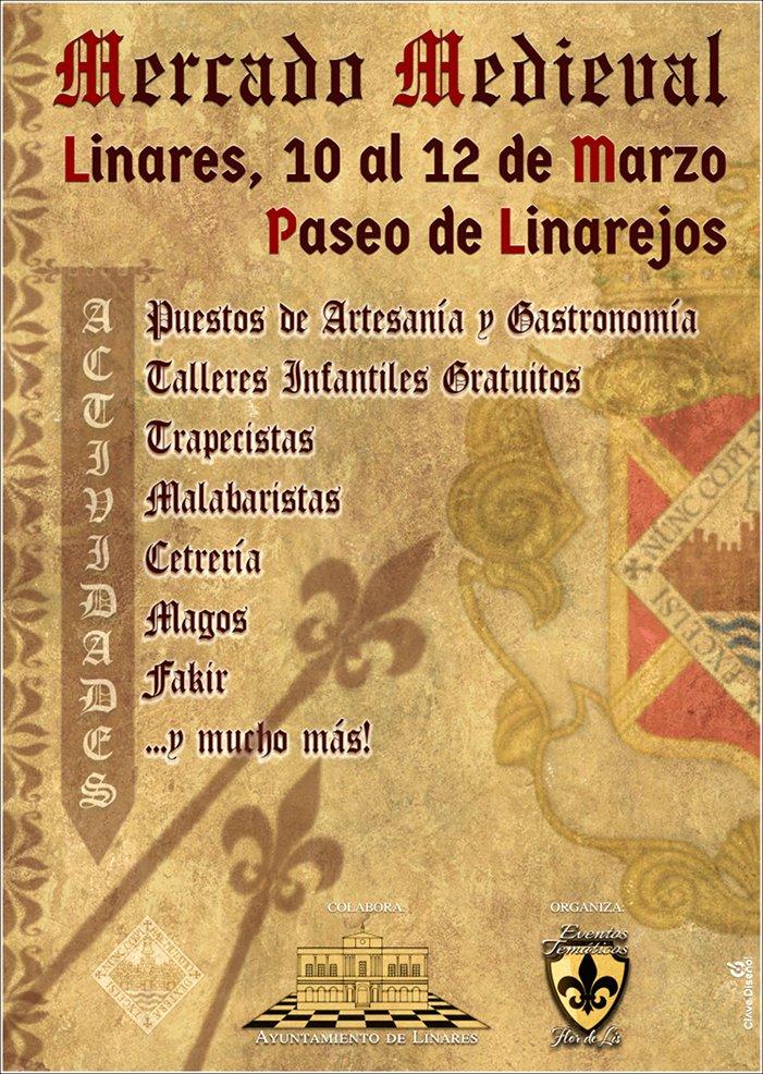cartel del Mercado Medieval en Linares - marzo2017- diseño Clave