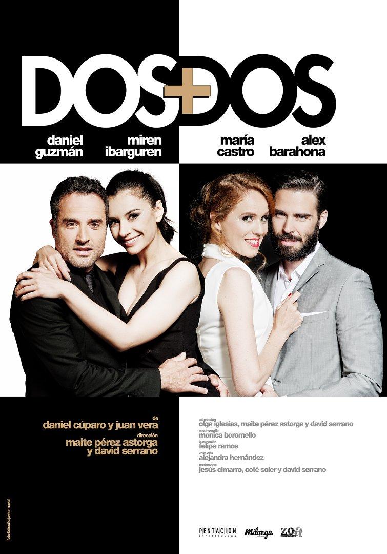 cartel de la comedia Dos + Dos