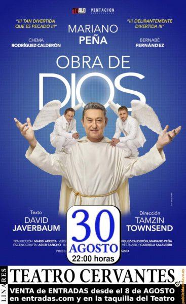cartel de Obra de Dios, con Mariano Peña