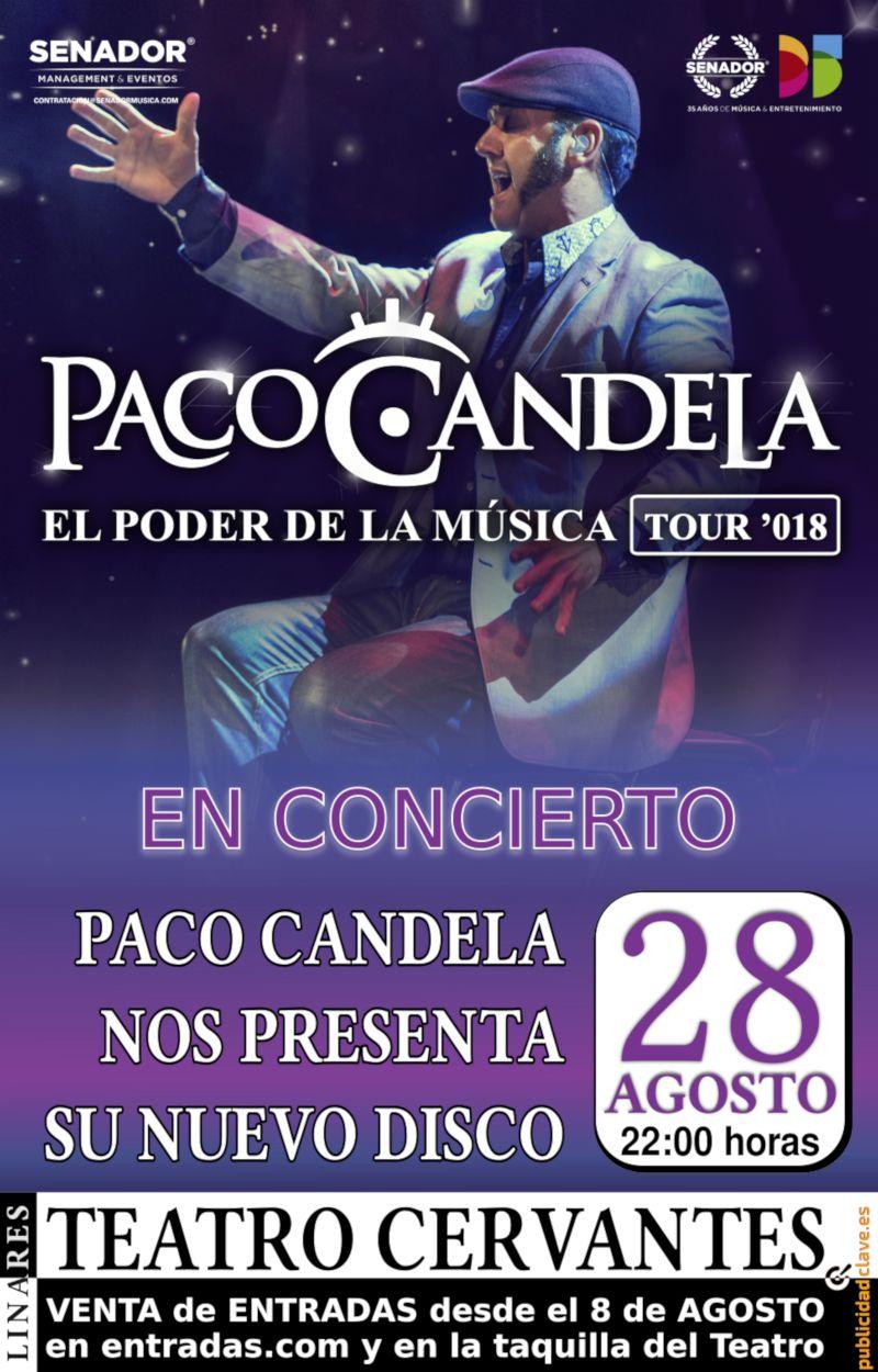 cartel de Paco Candela en la Feria de Linares
