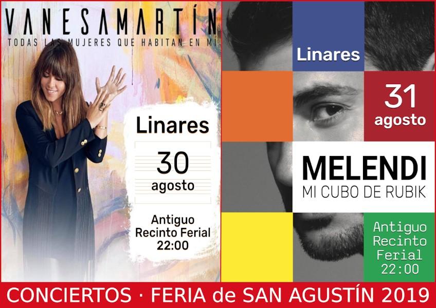 Carteles de los Conciertos en la Feria de San Agustín 2019