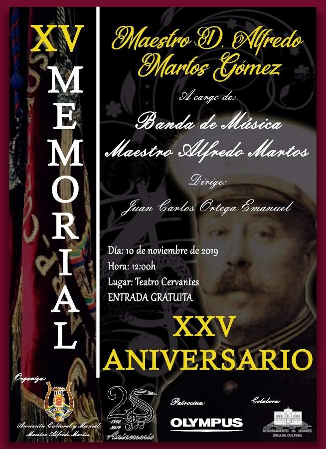 cartel del XV memorial Maestro D. Alfredo Martos Gómez