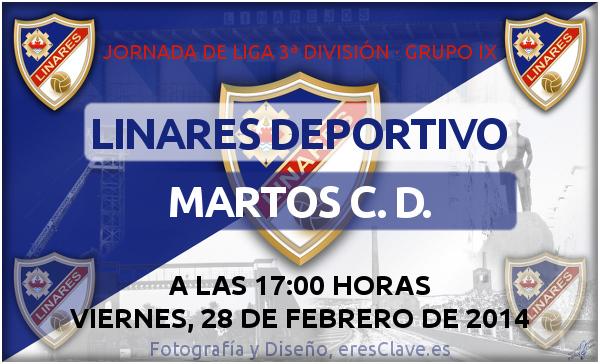 Partido Linares Deportivo - Martos CD el 28-02-2014 a las 17 horas