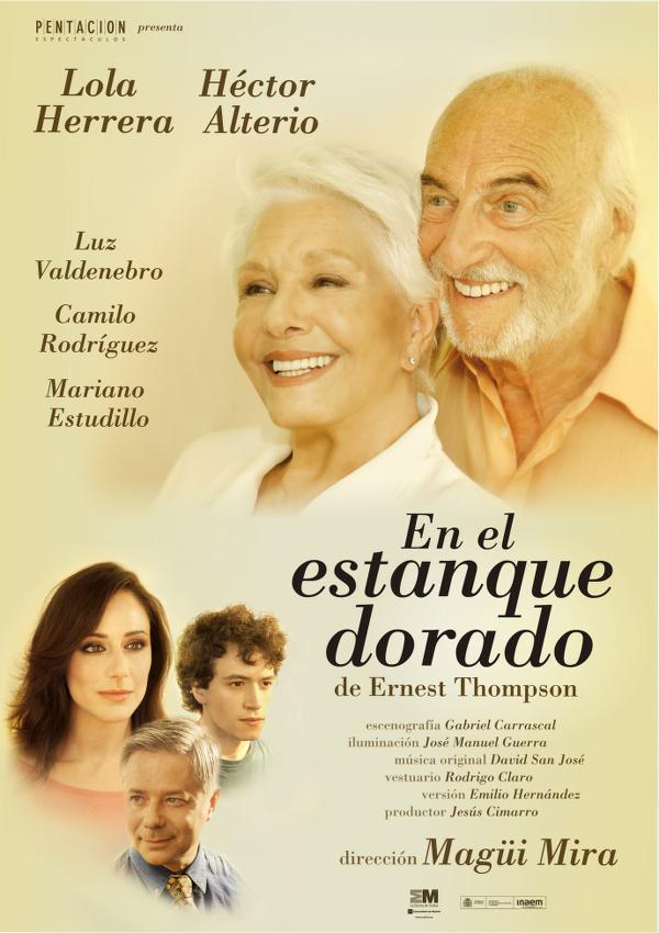 cartel del día 29 de agosto en el Teatro Cervantes de Linares: En el Estanque Dorado, de Ernest Thompson