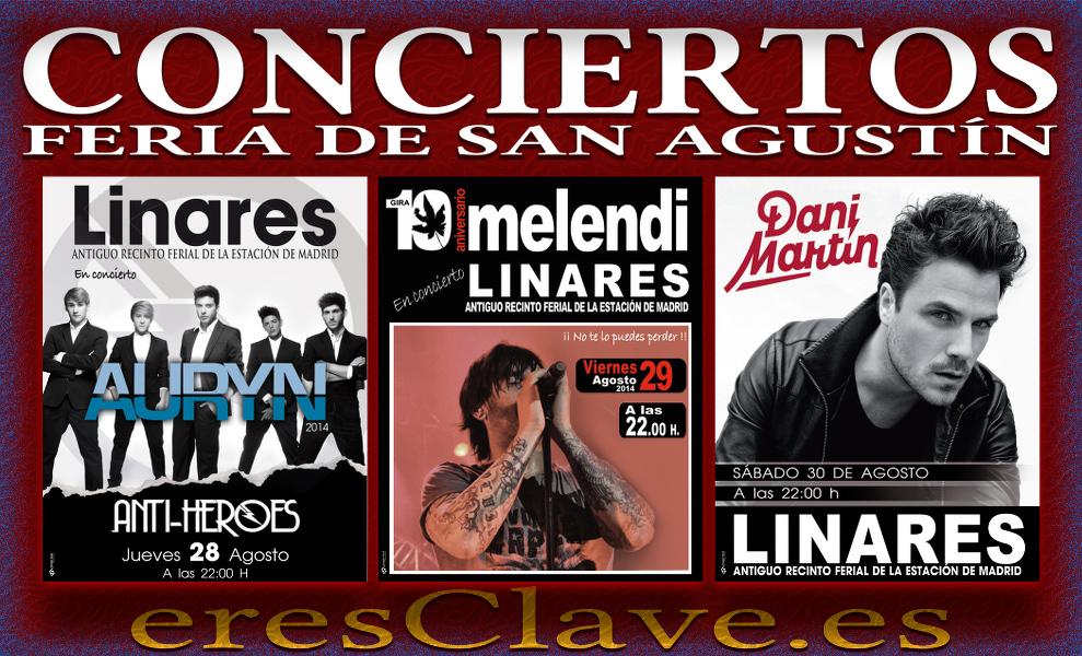 Conciertos de la Feria de San Agustín de Linares 2014