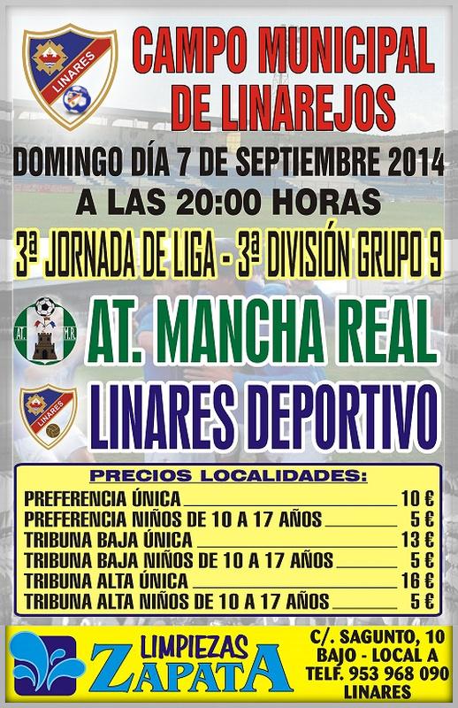 cartel Linares Deportivo - At. Mancha Real