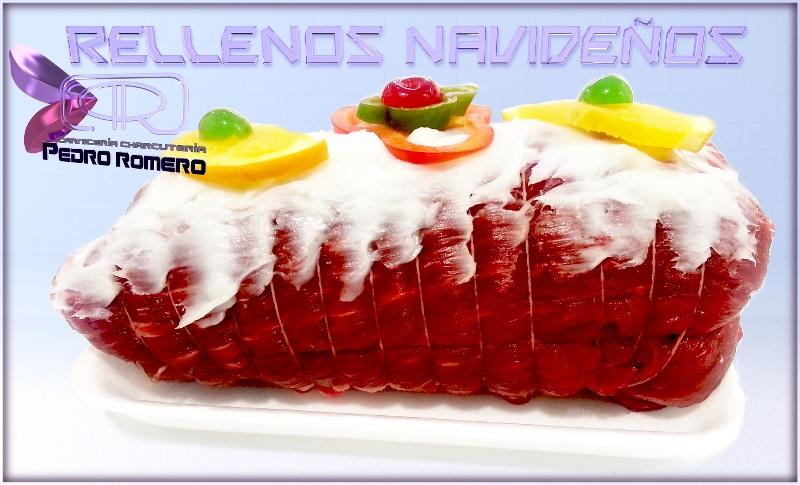 Exquisitos Rellenos Navideños (en la fotografía, Ternera de Primera Rellena) Carniceria Pedro Romero
