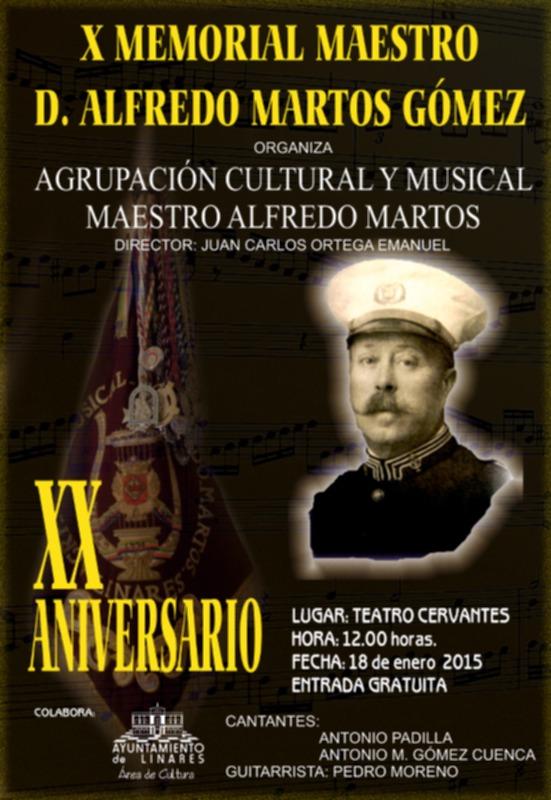 cartel del X Memorial Maestro Alfredo Martos Gómez