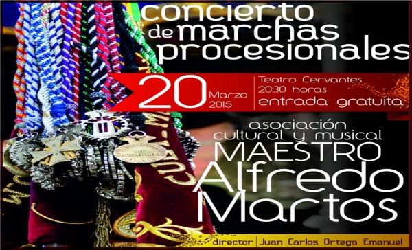portada Concierto de Marchas Procesionales. 20 de marzo de 2015. Agrupación Cultural y Musical Maestro Alfredo Martos