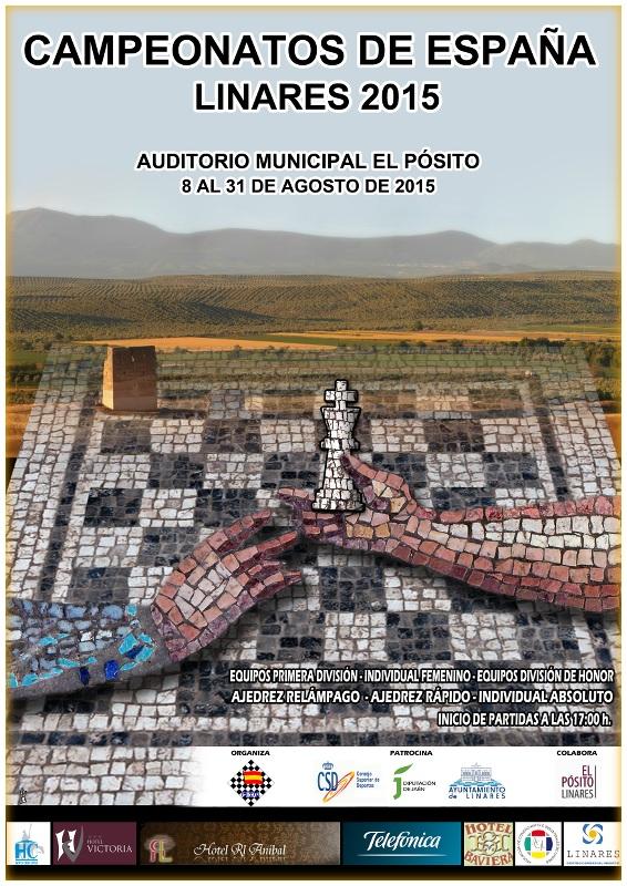 cartel campeonatos de España ajedrez 2015 en Linares