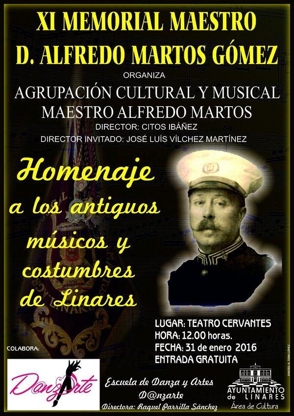 cartel XI Memorial Maestro D. Alfredo Martos Gómez - Linares 2016