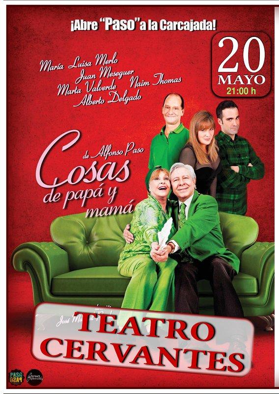 cartel-Cosas-de-Papa-y-Mama-Teatro-Cervantes-Linares