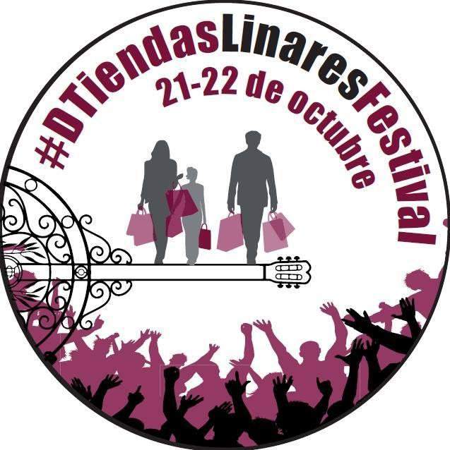distintivo de las tiendas participantes en el DTiendas Linares Festival de Linares,