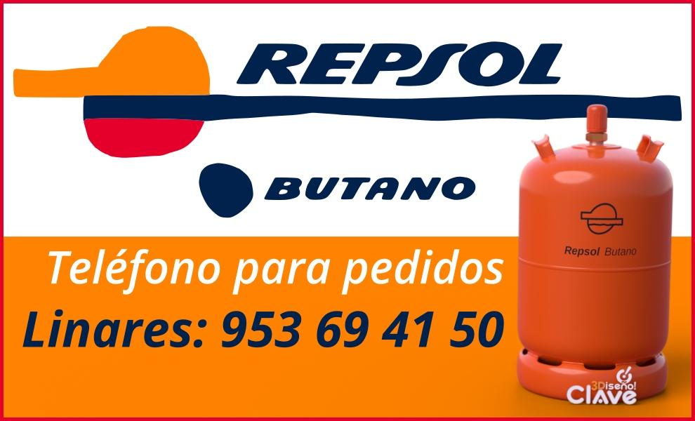 Teléfono para pedidos bombona naranja Repsol Butano Linares - 953 69 41 50