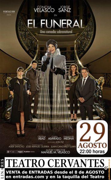 cartel de El Funeral, con Concha Velasco y Jorge Sanz