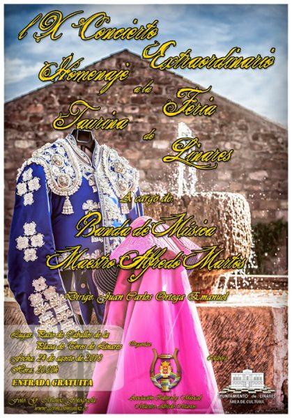 cartel del IX Homenaje a la Feria Taurina de Linares 2018