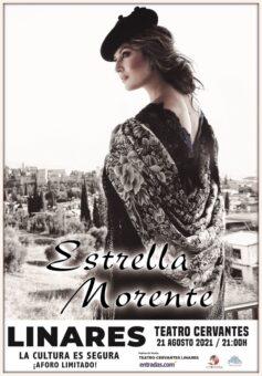 cartel del concierto de Estrella Morente en el Teatro Cervantes de Linares